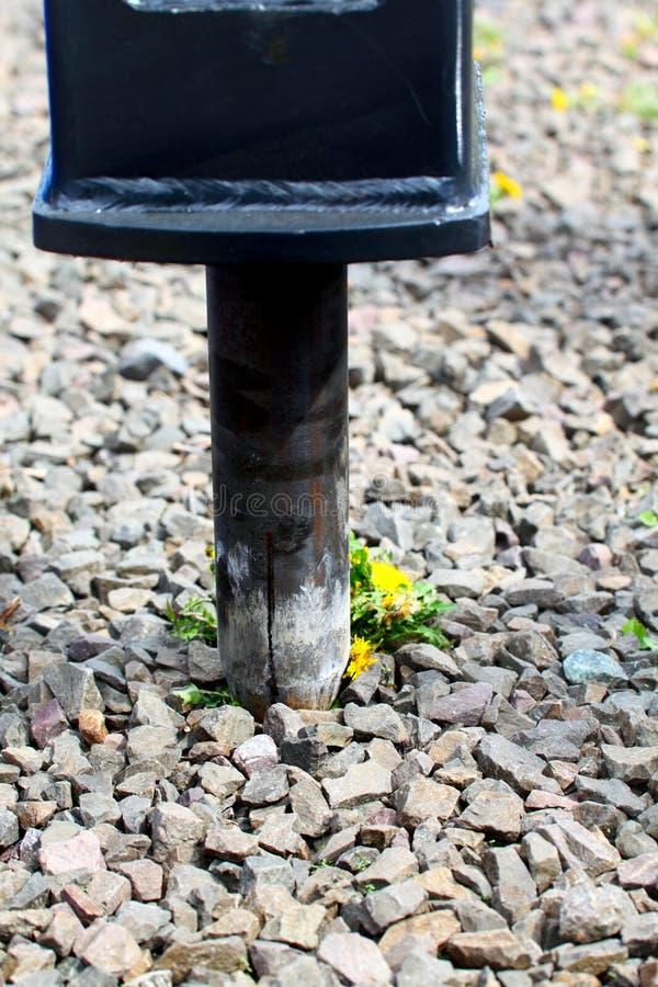 Brazo hidráulico del taladro neumático del martillo perforador foto de archivo