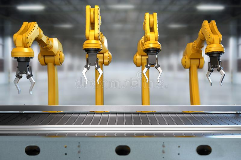 Brazo robótico industrial imagen de archivo
