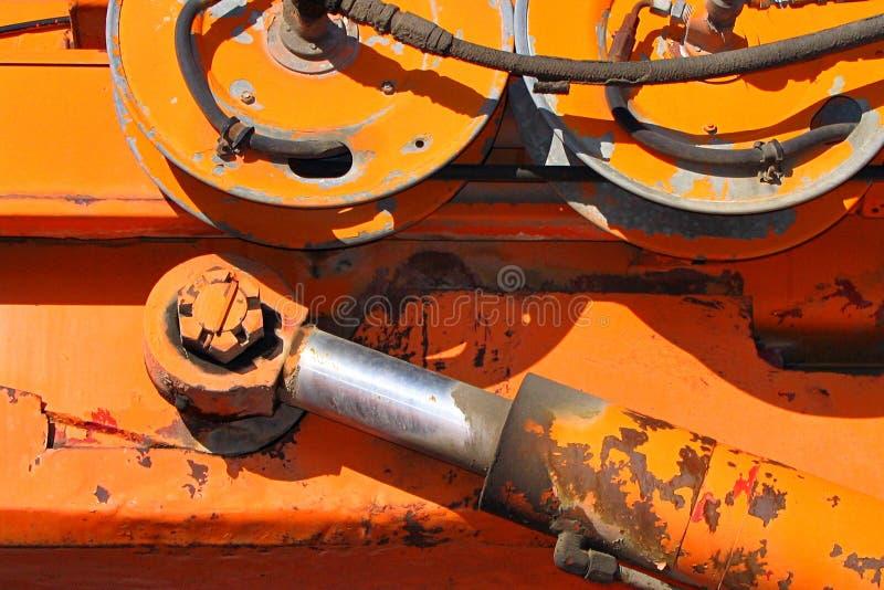 Brazo y ruedas de Hydrauling foto de archivo libre de regalías