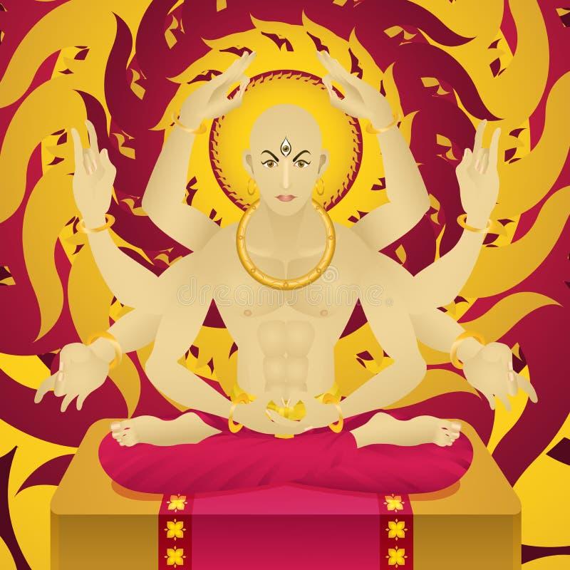 Brazos de dios ocho ilustración del vector