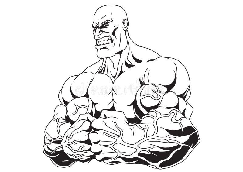 Brazos musculares ilustración del vector