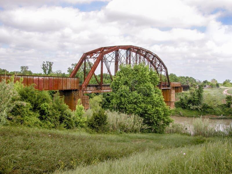 Brazos River Eisenbahnbrücke lizenzfreie stockbilder
