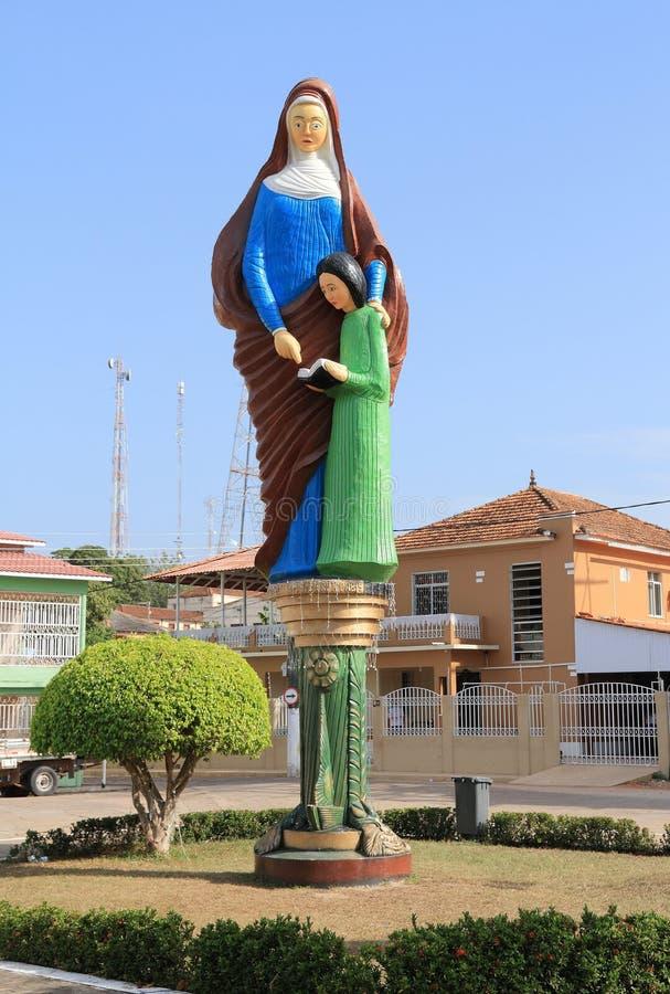 Brazylia, Ã 'bidos: Świętego Ann rzeźba obraz stock