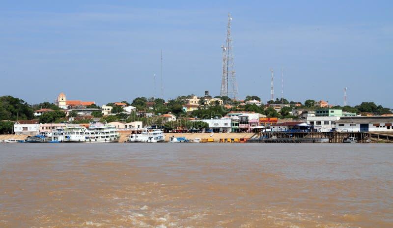 Brazylia, amazonki rzeka: Ã 'bidos - pejzaż miejski zdjęcie royalty free