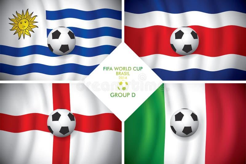 Brazylia 2014 d grupowa. FIFA słowo filiżanka. royalty ilustracja