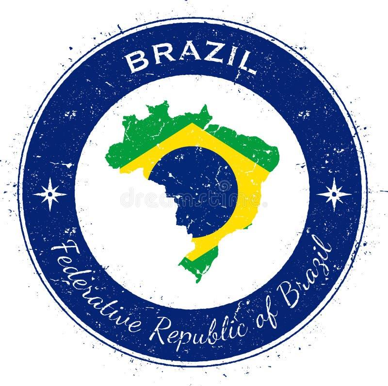Brazylia kółkowa patriotyczna odznaka ilustracji