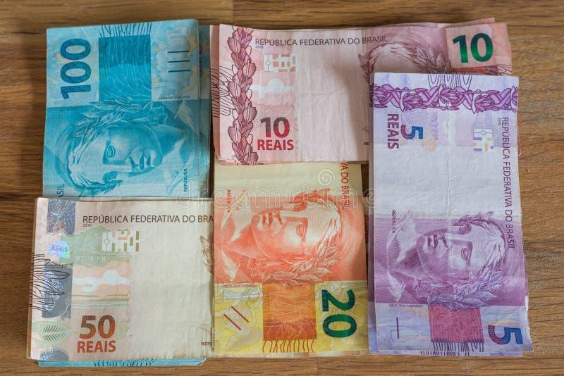 Brazylia pieniądze, reais/ zdjęcia royalty free