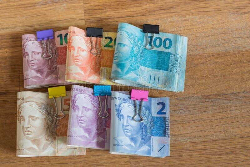 Brazylia pieniądze, reais/ zdjęcia stock
