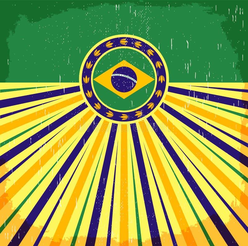 Brazylia rocznika patriotyczny plakat - karciany wektorowy projekt ilustracja wektor