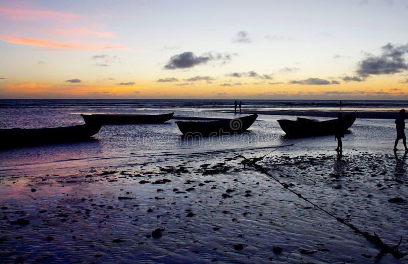 Brazylijczyka Plażowy zmierzch obrazy royalty free