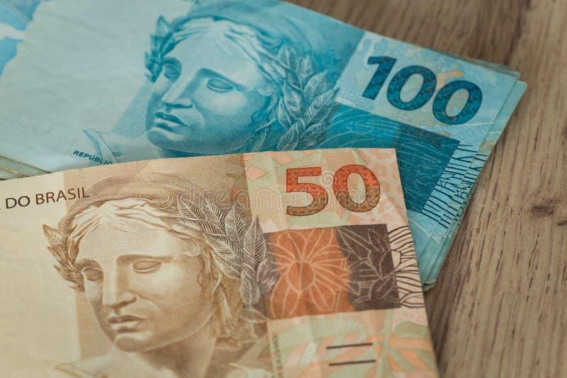 Brazylijscy pieniądze, wysoko nominalny/ fotografia stock
