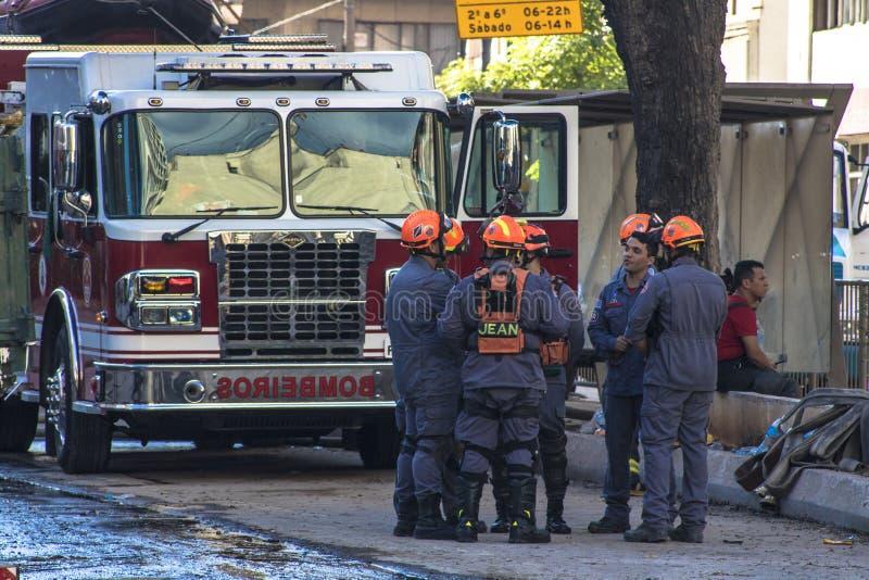 Brazylijscy strażacy fotografia stock