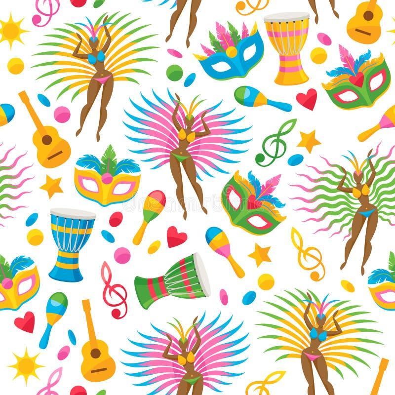 Brazylijska karnawałowa tło wektoru ilustracja ilustracja wektor