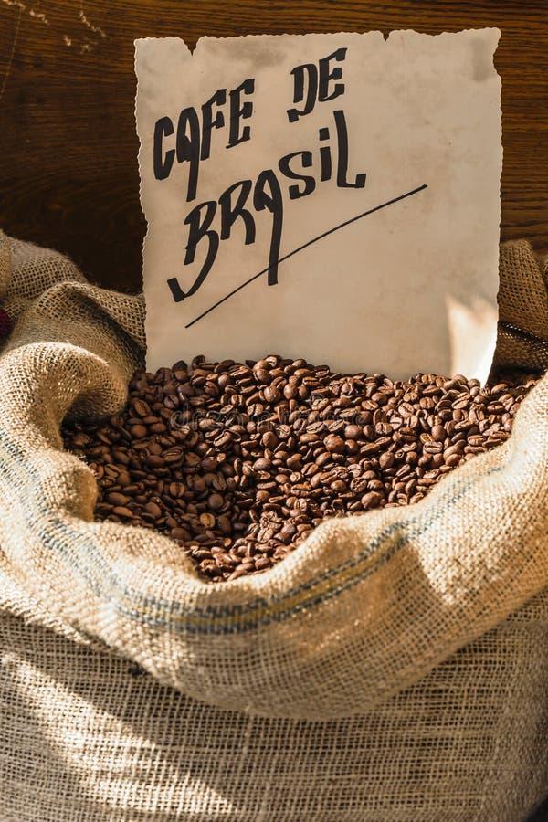 Brazylijska kawowa fasola obrazy stock