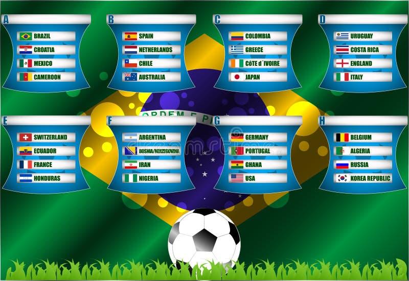 Brazylijska mistrzostwo grupy scena ilustracja wektor