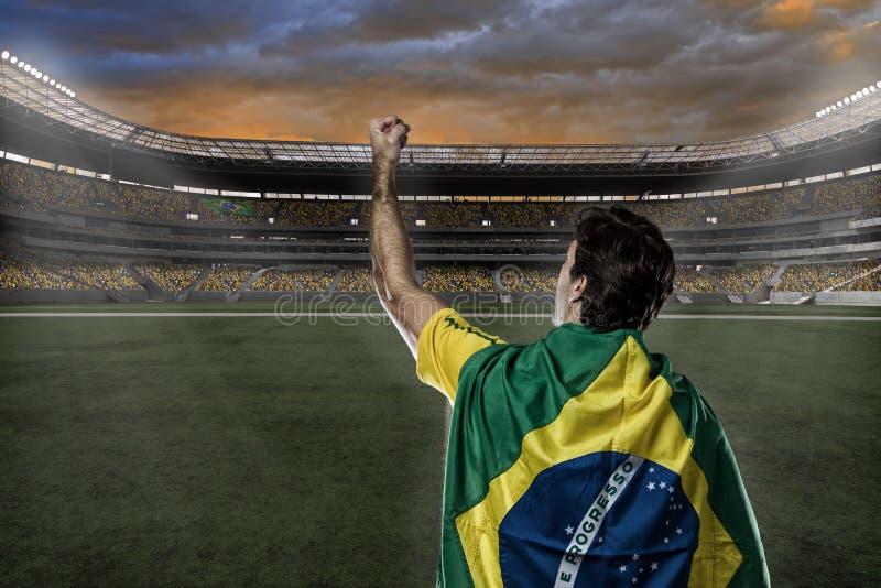 Brazylijski gracz piłki nożnej obrazy royalty free