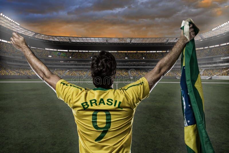 Brazylijski gracz piłki nożnej obraz stock
