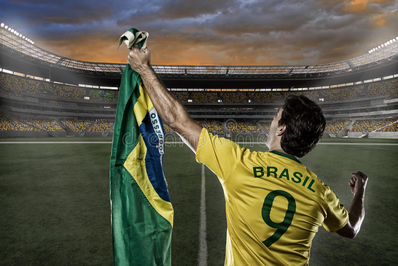 Brazylijski gracz piłki nożnej obraz royalty free