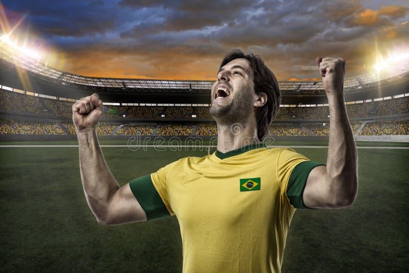 Brazylijski gracz piłki nożnej zdjęcia royalty free