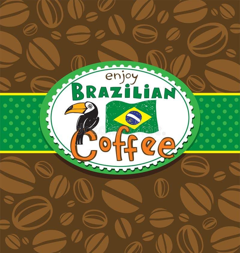 Brazylijski kawowy tło ilustracji