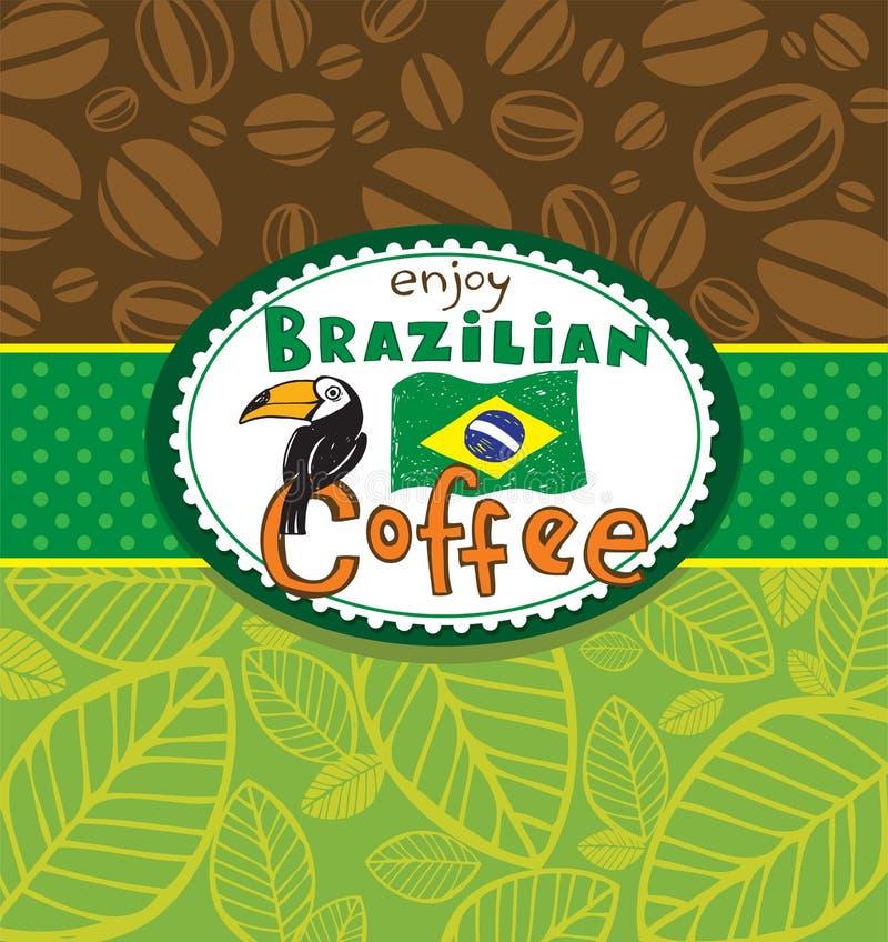 Brazylijski kawowy tło royalty ilustracja