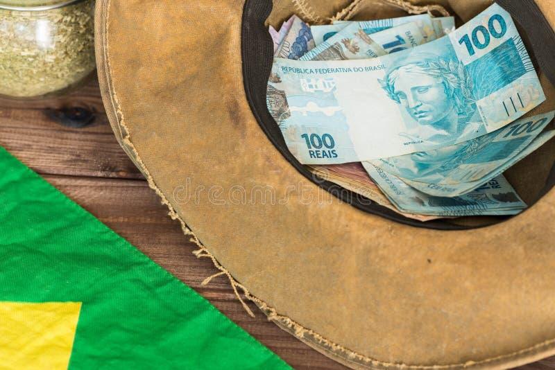 Brazylijski pieniądze i styl obrazy royalty free