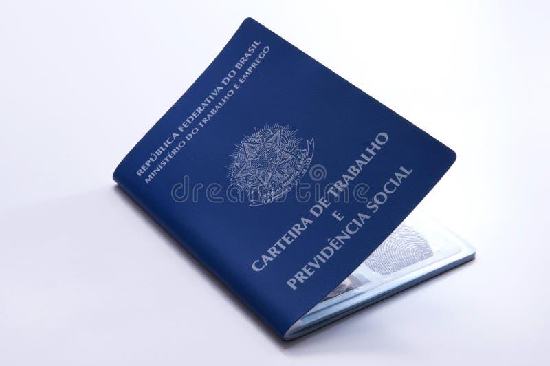 Brazylijski praca dokument i ubezpieczenie społeczne dokument (carteira d zdjęcie stock
