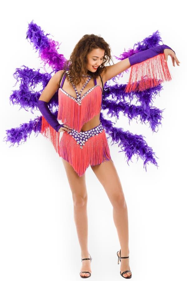 Brazylijski tancerz samby być ubranym obraz stock