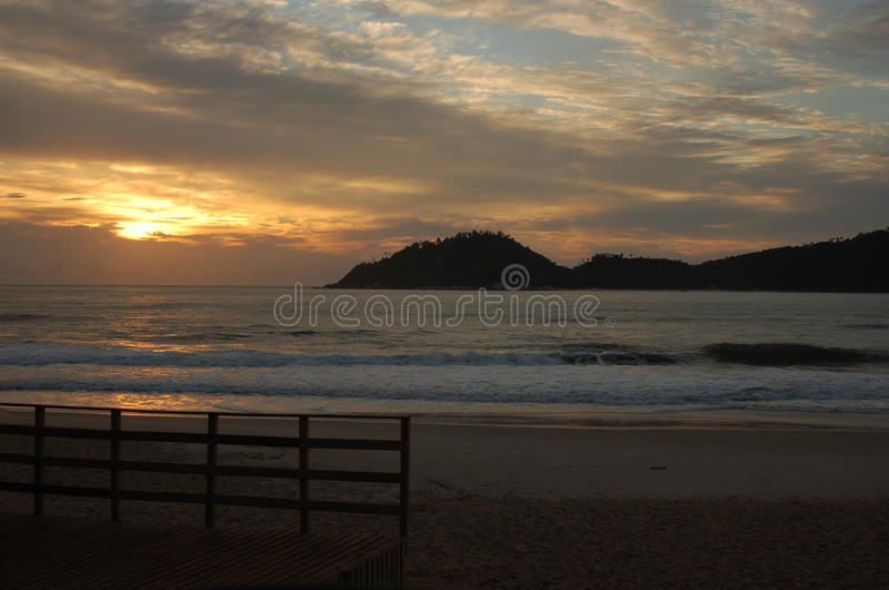 brazylijski wschód słońca fotografia stock