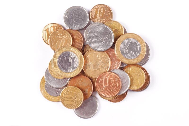 Brazylijskie pieniądze monety obraz royalty free