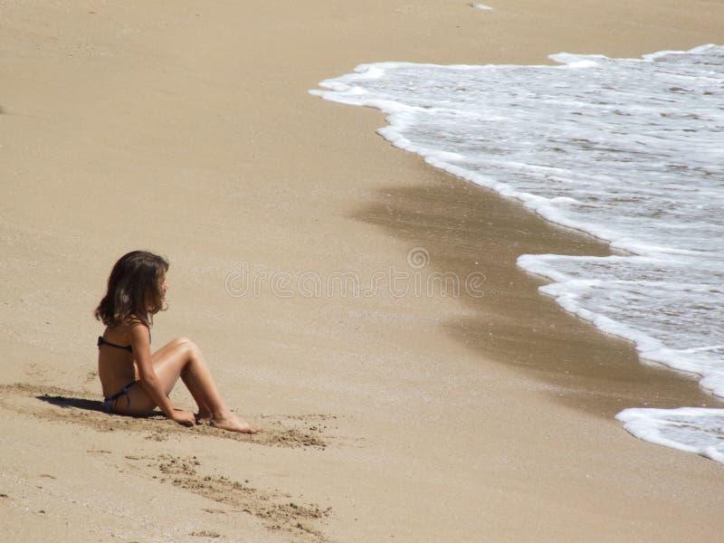 Brazylijskie plażowa dziewczyna obraz stock