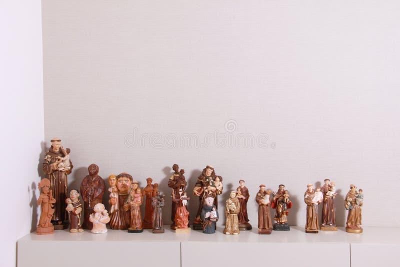 Brazylijskie religijne rzeźby zdjęcie royalty free