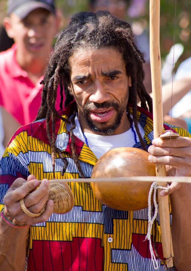 brazylijskiego capoeira rastafarian piosenkarz obraz royalty free