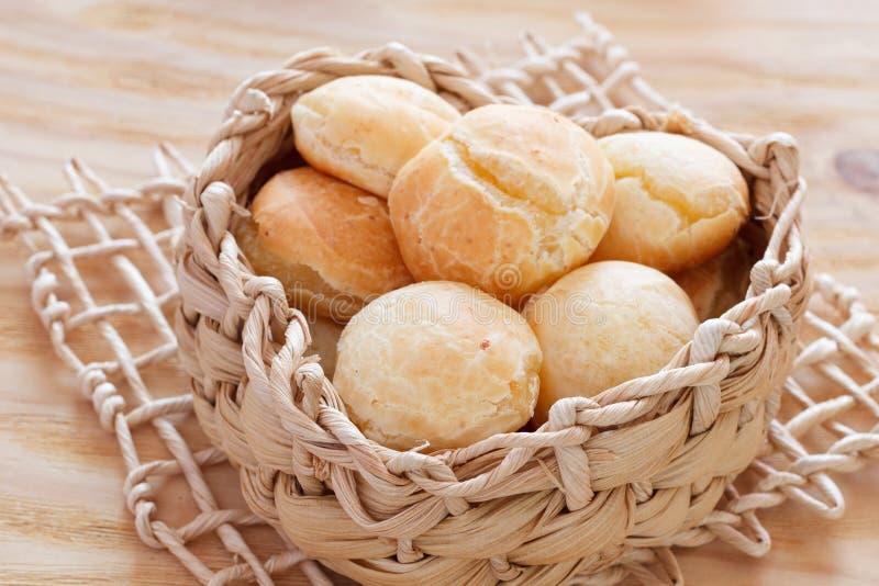 Brazylijskiej przekąski serowy chleb (Pao De Queijo) zdjęcie stock