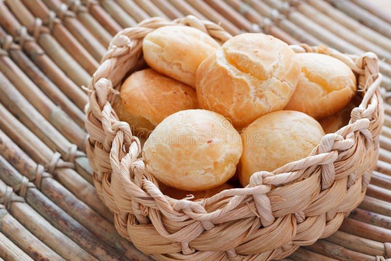 Brazylijskiej przekąski serowy chleb (Pao De Queijo) obraz royalty free