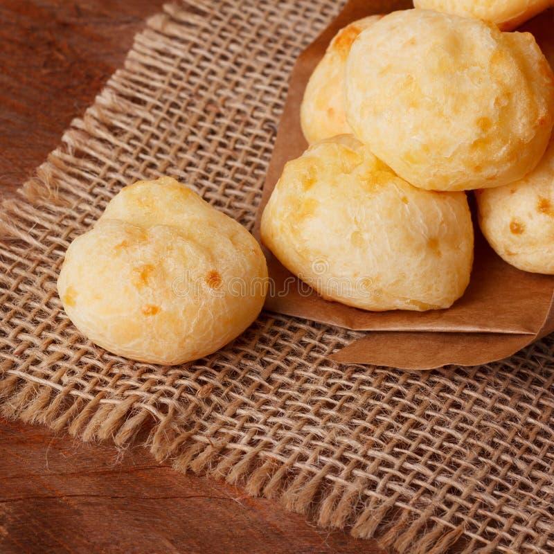 Brazylijskiej przekąski serowy chleb (Pao De Queijo) fotografia royalty free