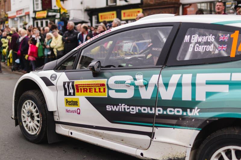 BRC Ford Fiesta Rally Car dans Brampton image libre de droits
