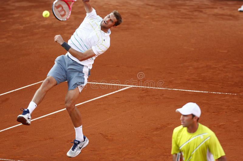 BRD Open 2013 Doubles Final:Horia Tecau/ Max Mirnii vs. Dlouhy/ Marach royalty free stock images