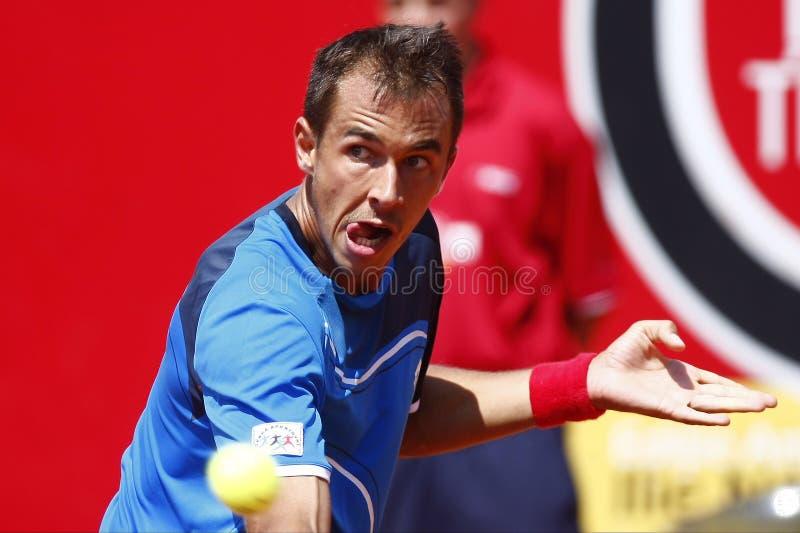 Download BRD Open 2013 Singles Semi-Final:Lukasz Rosol-Gilles Simon Editorial Image - Image of racquet, ball: 30703650