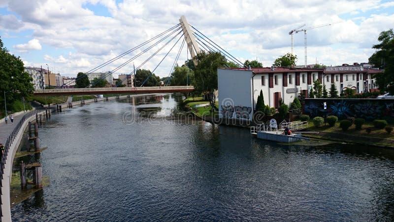 Brda-Fluss in Bydgoszcz lizenzfreie stockbilder