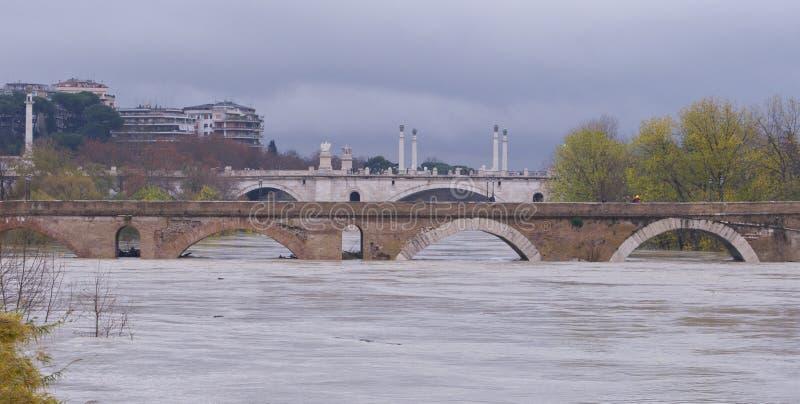 brdge milvio ponte zdjęcie royalty free