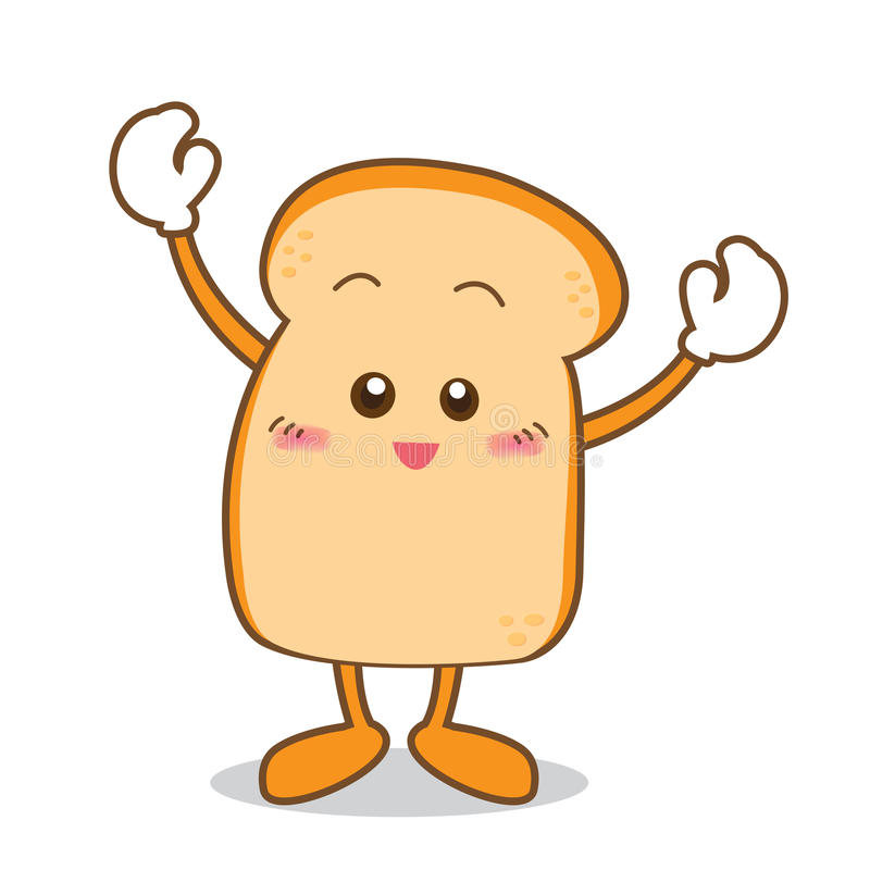 Bread-05. Isolated Slice of bread cartoon vector illustration