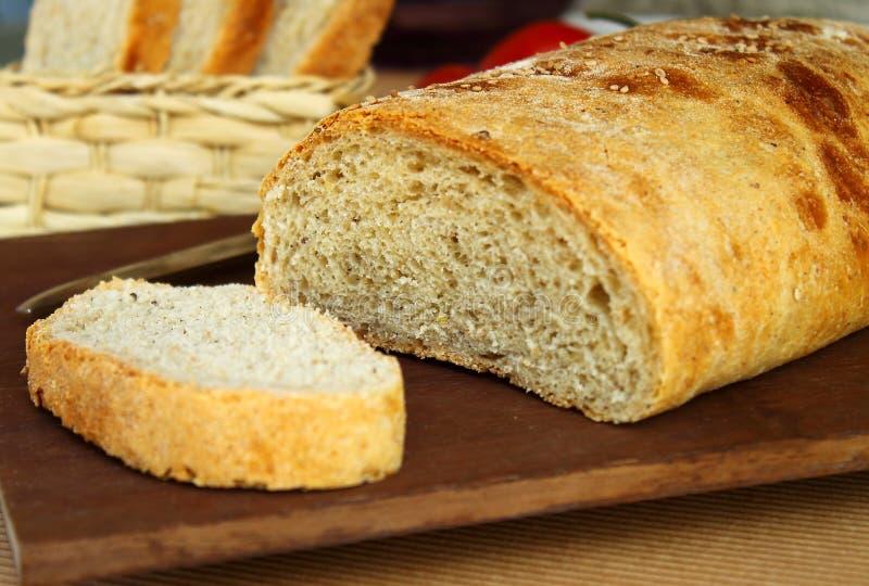 Bread. Multi cereal home made delicious bread stock photo