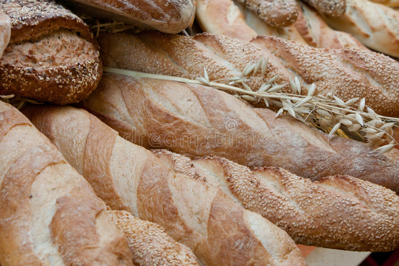 French baguette. BREAD royalty free stock image