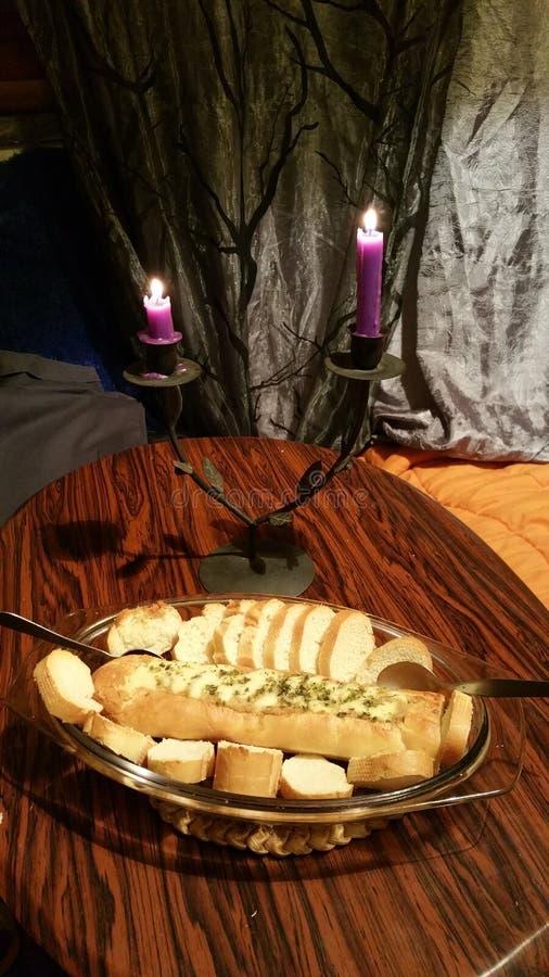 Bread with Alheira royalty free stock photos