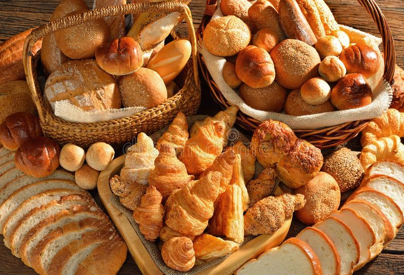Bread, Baked Goods, Bakery, Pan Dulce stock photo