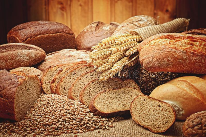 Bread, Baked Goods, Rye Bread, Bakery stock images