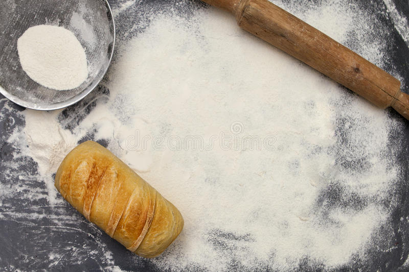 Bread and bakery staffs stock images