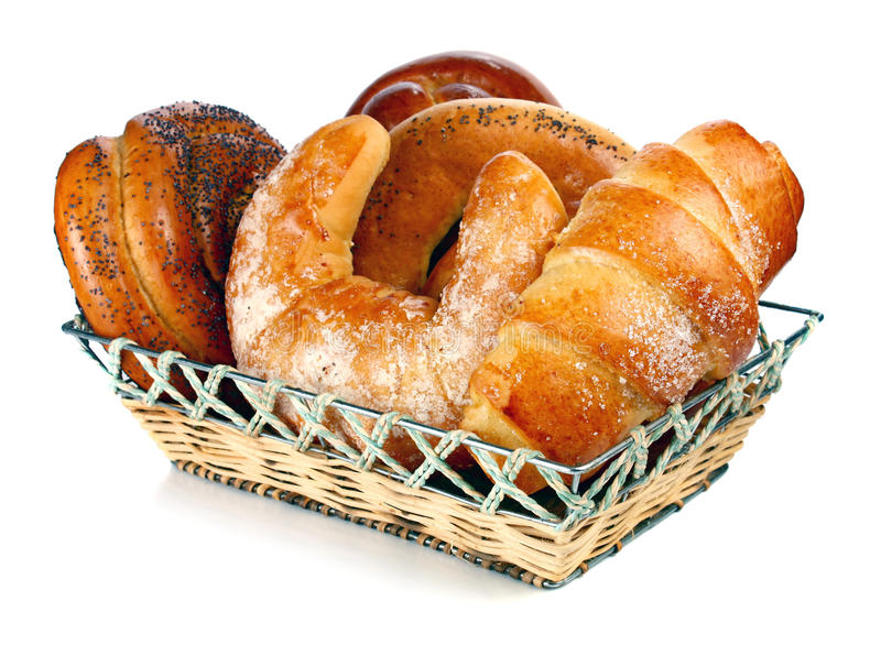 Bread in the basket stock photography