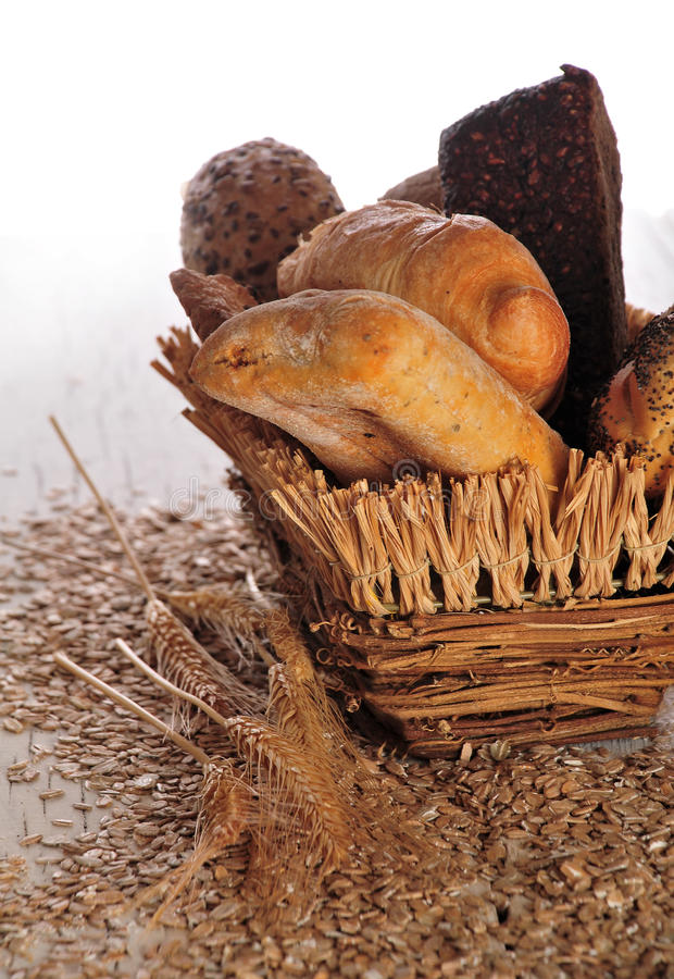 Download Bread in a basket stock photo. Image of cooking, baking - 26635788